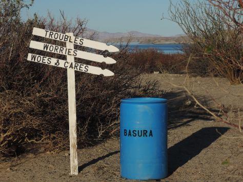 Signs we saw along the way in Bahia de los Angeles.