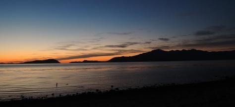 Taken just as the sun was peeking over the horizon.