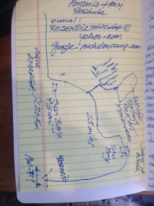 Antonio's map to the magical forest.