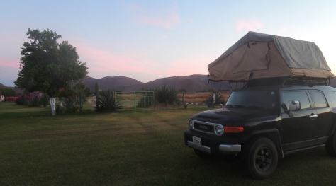 Our new home for the night.