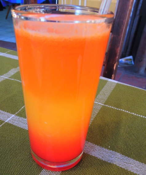 Fresh orange / carrot juice that tastes as good as it looks!