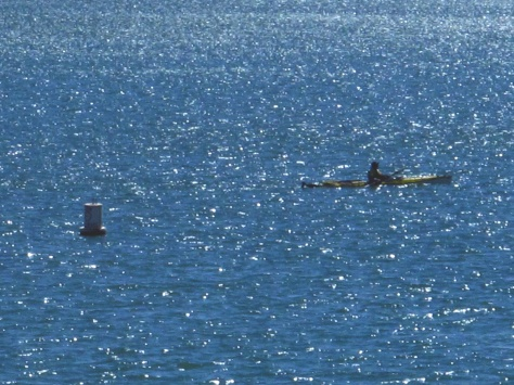 Early morning kayaker near our campsite.