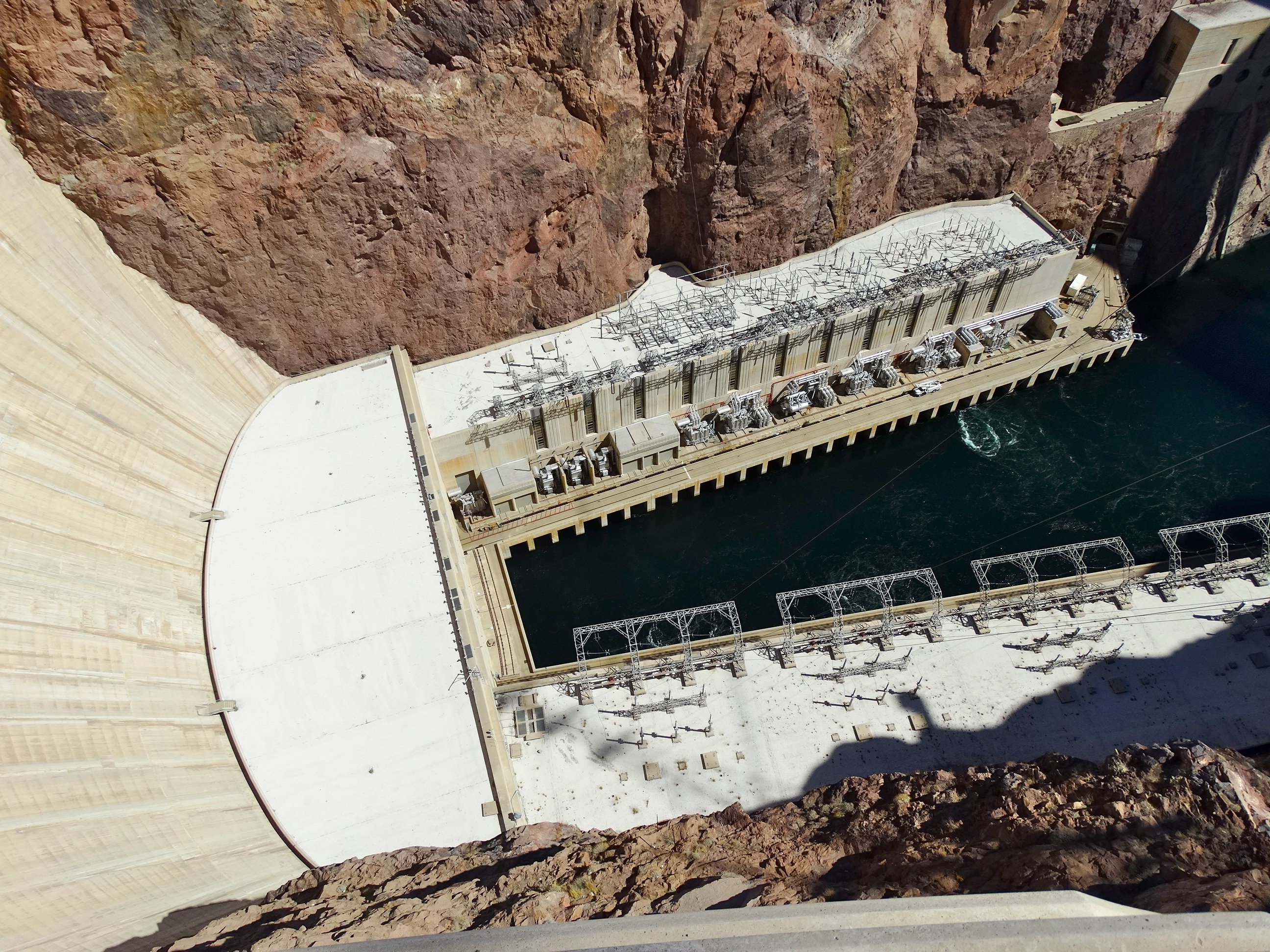 Hoover Dam Its The Journey That Matters Power Plant Diagram View Of Facilities Behind