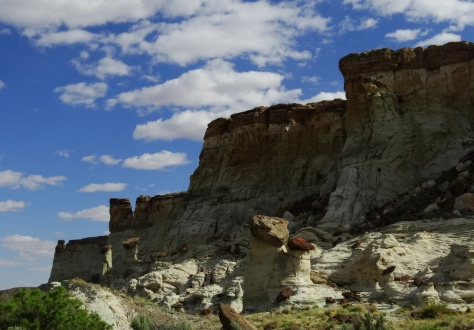 These were the cliffs that were our guide to the hoodoos.