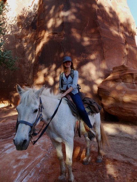 Sherman and me exploring Canyon de Chelly together.