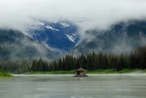 Float house on Stikine River.