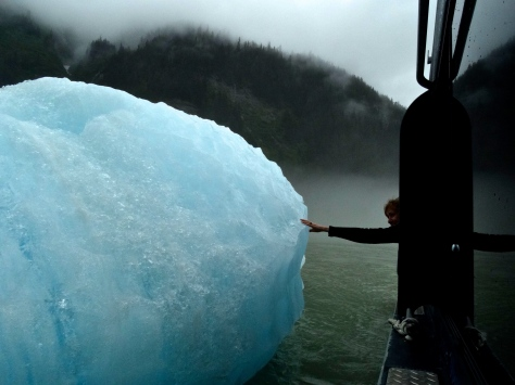 The color of these ice bergs was amazing!