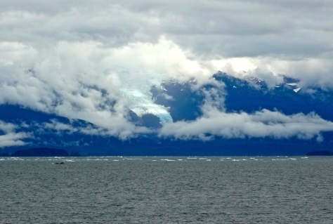 Icebergs from the glacier in the distance. This glacier has retreated 30 miles over the past decade.