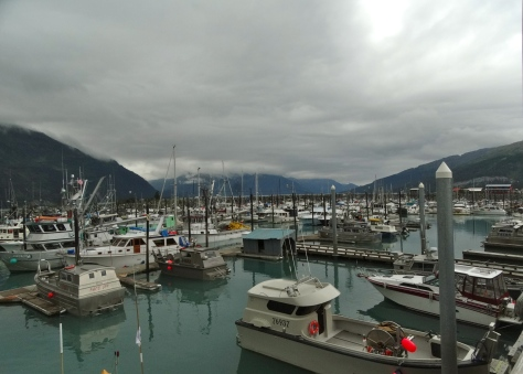 The Whittier marina. I think everyone in town owns a boat!